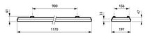 Philips CoreLine Påbyg Interact Ready SM134V LED 3700lm/840 20x120 Nødbelysning OC/UGR<19