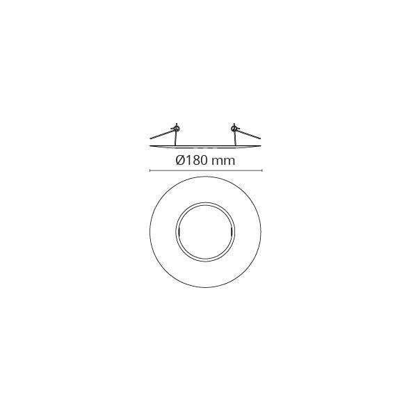 Rehab Ring 180mm Mat-Hvid