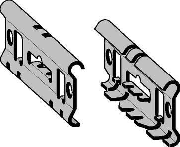 Universal samlebeslag rustfri for gitterbakker 300-400mm 730R