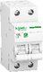 Resi9 Automatsikring MCB, 2P, 10A, 230V, C-karakteristik 3322092515