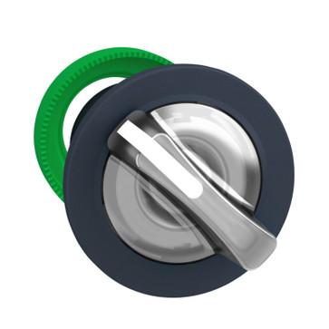 Harmony flush drejegreb i plast for LED med 2 faste positioner i hvid farve ZB5FK1213