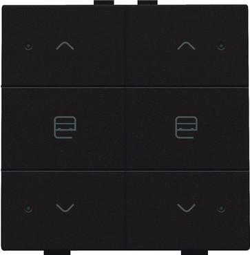 Motortryk dobbelt med LED, dark brown, NHC 124-52036