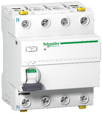 Acti9 HPFI-afbryder iID, 4P 63A 30mA, kl. A, med dobbelt terminal, 72 mm A9Z21463