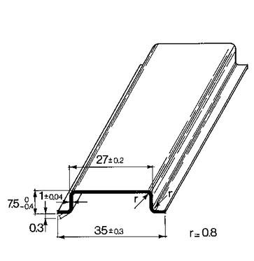 Skinne for 356 TS35X7,5/356