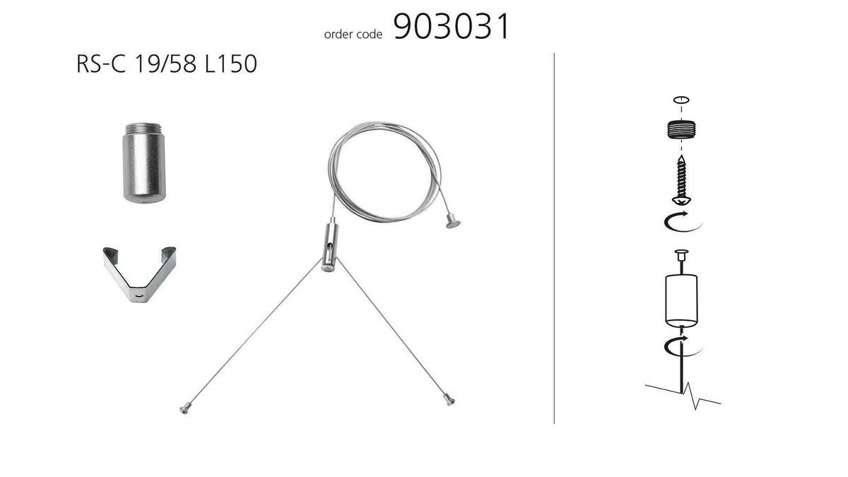 Modul LMD ekstra wirekit (x1) til nedhæng