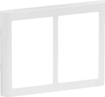 LK FUGA antibakteriel SOFT designramme 2x1½ modul, hvid 580D6715