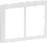 LK FUGA antibakteriel SOFT designramme 2x1½ modul, hvid 580D6715 miniature