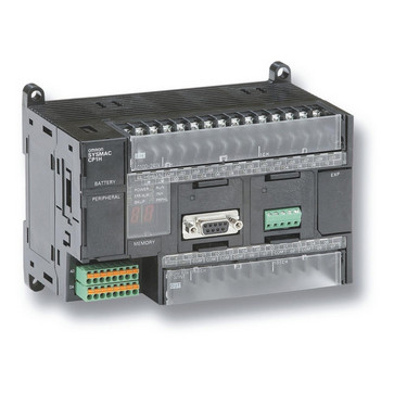 PLC, 100-240 VAC forsyning, 24x24VDC input, 16xrelæudgange 2A, 1xanalog indgang, 20K trin program + 32K-ord datalager CP1H-X40DR-A 209400