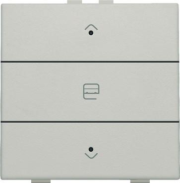 Motortryk enkelt med LED, light grey, NHC 102-52033
