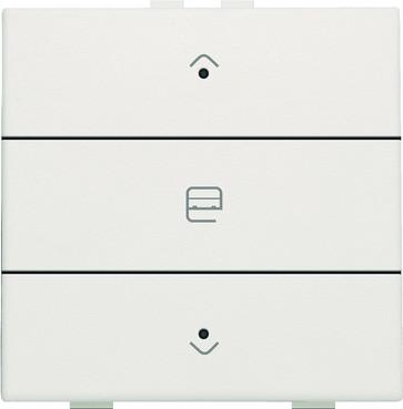Motortryk enkelt med LED, white, NHC 101-52033
