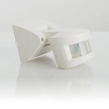 G-LUX Udendørs bevægelsessensor 180°, IP55 vandtæt infrarød, justerbar detektion op til 12 M 129694