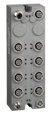 Modicon TM7, I/O Udvidelsesmodul, 16 DI/DO, 24VDC, M12 stik, 0,5A Udgangsstrøm, IP67  / TM7BDM16A