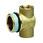 "T-stykke til fordelerrør 1"" x ½"" x ⅜"" nippel/muffe/muffe 070M-843 miniature"