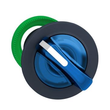 Harmony flush drejegreb i plast for LED med 2 faste positioner i blå farve ZB5FK1263