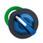 Harmony flush drejegreb i plast for LED med 2 faste positioner i blå farve ZB5FK1263 miniature