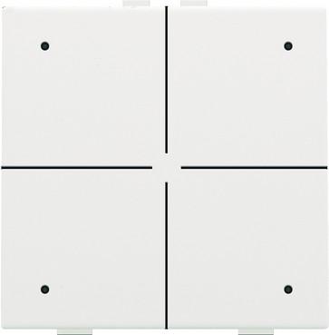 4-tryk med LED, white coated, NHC 154-52004