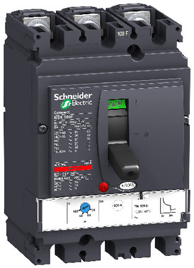Maksimalafbryder NSX100F+TM100D 3 poler 3D LV429630