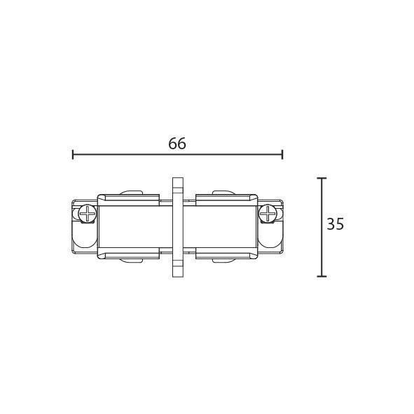 Shopline trac isoleret sammenkobling 3-fase mat-hvid