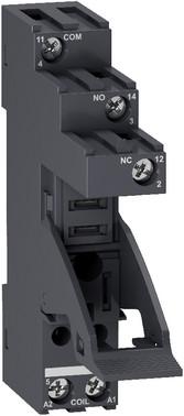 Sokkel for RXG relæer med 1 C/O kontakter og skrueterminaler RGZE1S35M