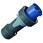 CEE stikprop 3 polet 125A 230V IP67 13216 miniature