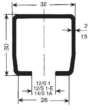 Skinne profil C 1,5 milimeter-4 meter, s1 a 0312964