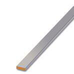 Neutral busbar, width:10 mm, height:3 mm, DIN VDE 0611-4: 1991-02, material:Copper, tin-plated, length:1000 mm, color:silver 402174