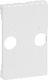 FUGA antenneudtag ·tilbehør afdækning  TV og R T2, hvid 1087004316