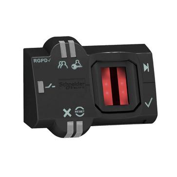 Harmony biometrisk trykknap stand-alone med RGPD og PNP kip udgang og 2 meter kabel 24V AC/DC XB5S6B2L2