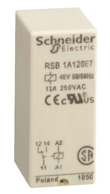 Stikbensrelæ 1C/O 12A 48VAC RSB1A120E7
