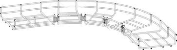Hjørnelaske rustfri skrue-løs montage 732R