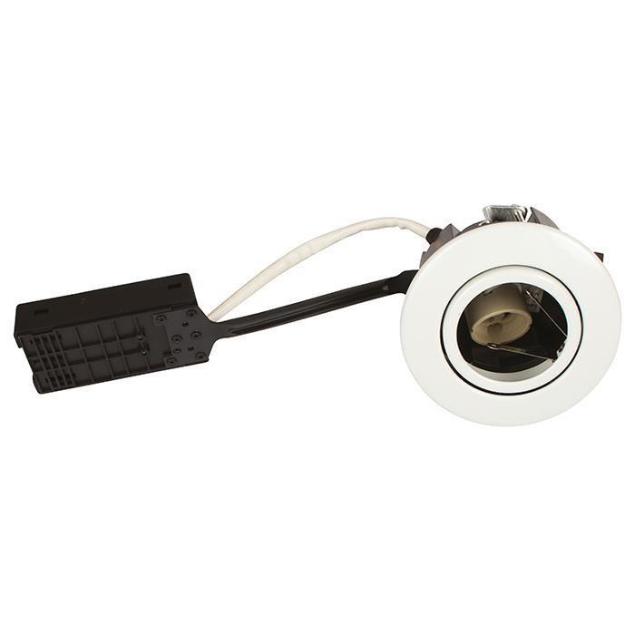 Luna Quick install 230V GU10 IP44 SS316 Hvid Rund.