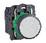 Harmony trykknap komplet med fjeder-retur og plan trykflade i hvid farve 1xNO+1xNC XB5AA15 miniature