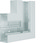 Fladvinkel plast for BR65170 RAL 7035 BR6517057035 miniature