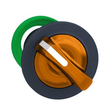 Harmony flush drejegreb i plast for LED med 2 faste positioner i orange farve ZB5FK1253