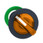 Harmony flush drejegreb i plast for LED med 2 faste positioner i orange farve ZB5FK1253 miniature