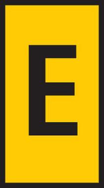 Fortrykt kabelmærke gul WIC2-E 561-02054