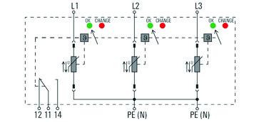 Transientbeskyttelse VPU AC I 3 R 300/12.5 2591450000