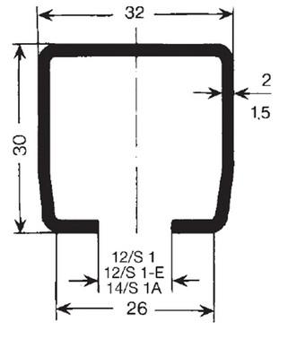 Skinne profil c 1,5 milimeter-6 meter, s1 a 0312966