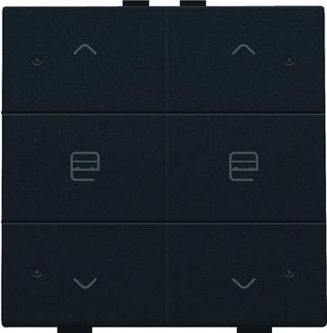 Motortryk dobbelt med LED, black coated, NHC 161-52036