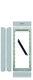 Nexa Alu rammesæt til 2 moduler, N6002/AL 7882412741