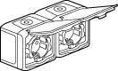 Forix udendørs IP44 dobbelt stikkontakt i grå schuko 16A 782394