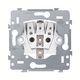 Stikkontakt med sidejording, installationsdybde 28,5 mm, 16 A/250 Vac, plug-in-terminaler 3417810398