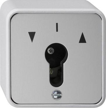 Nøgleafbryder 1 pol  fjeder ST vægmonteret   grå 016330