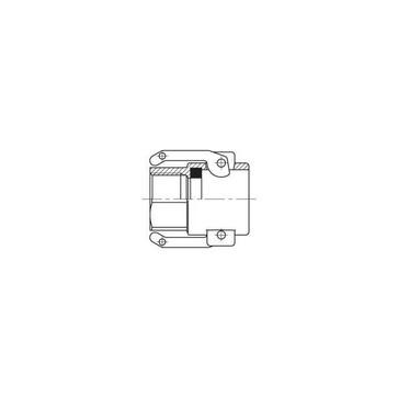 """CAM-Lock-Kobling Messing 2"""" indvendigt gevind, hun 50231032"""