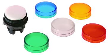 Harmony signallampehoved i plast for LED med linser i 5 forskellige farver ZB5AV003