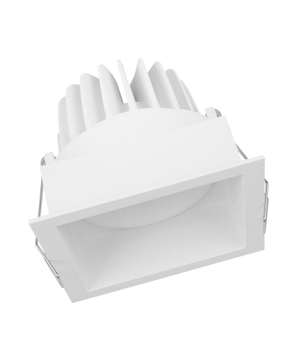LEDVANCE Spot firkantet kipbar 8W/3000K hvid 36°