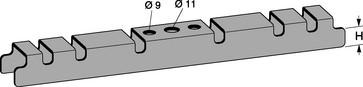 Bærebeslag rustfri for ophæng af gitterbakker 500-600mm 767R