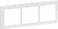 LK FUGA antibakteriel SOFT designramme 3 modul vandret, hvid 580D6330 miniature