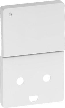 LK FUGA antibakteriel tangent med LED for stikkontakt 2-polet + DK jord og afbryder, hvid 580D6923