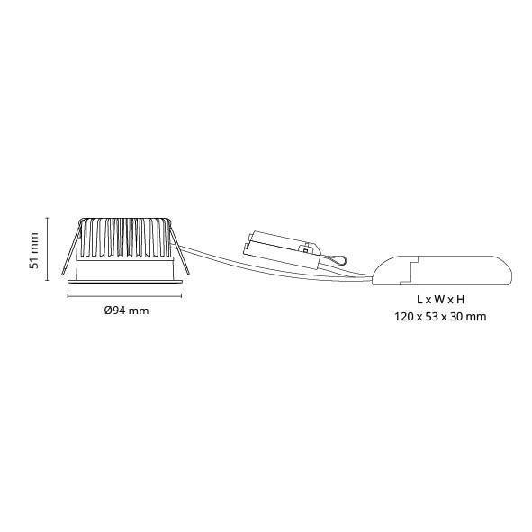 Soft IsoSafe DimToWarm  Hvid IsoSafe 560lm 2000-2800K Ra>98 DALI